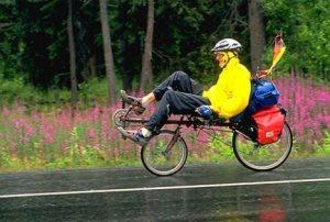 Recumbant Bicycle Rider